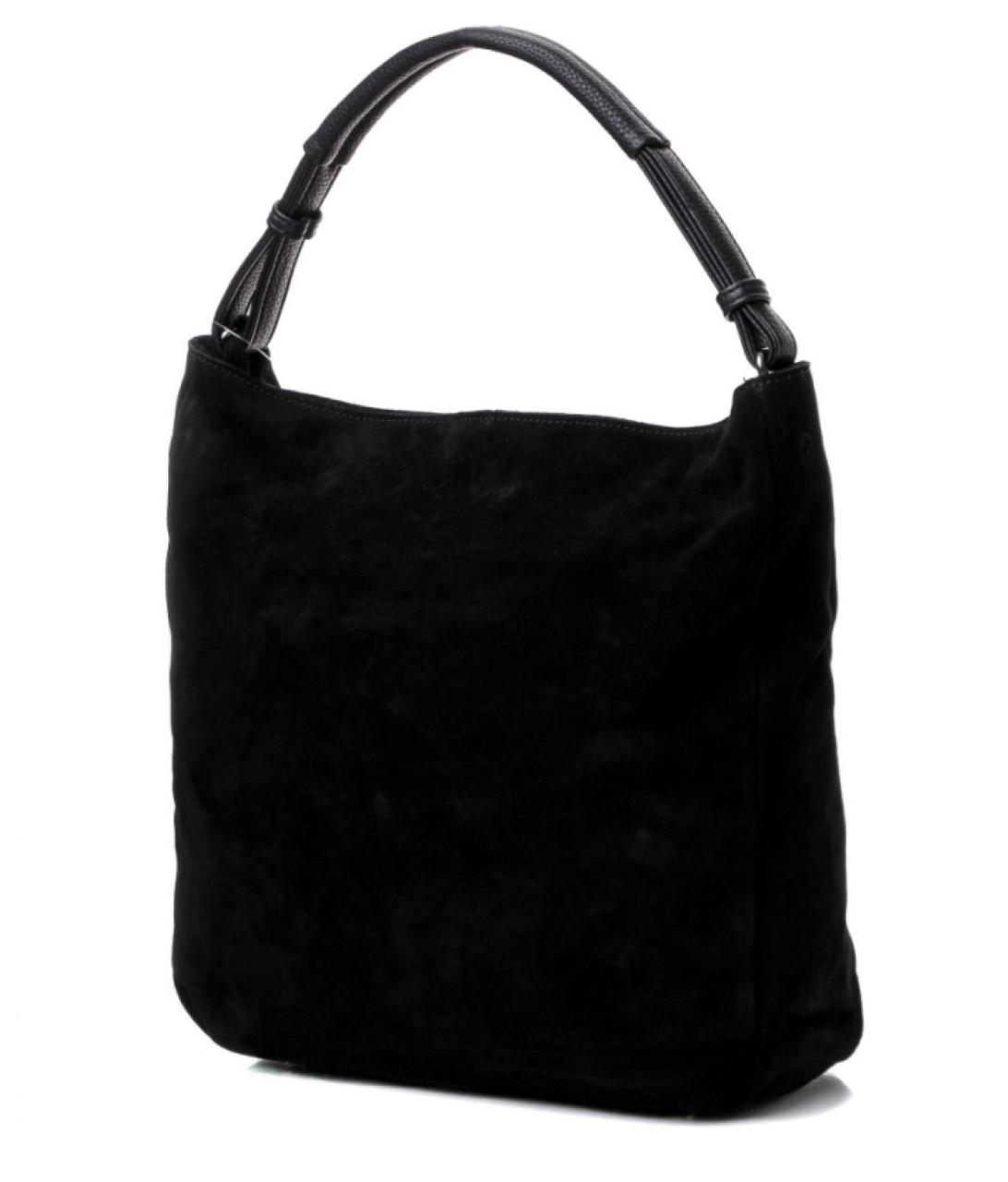 9968881dc135 Сумка-мешок женская замшевая на одной ручке черная 717. Брендовые сумки  недорого в Одессе