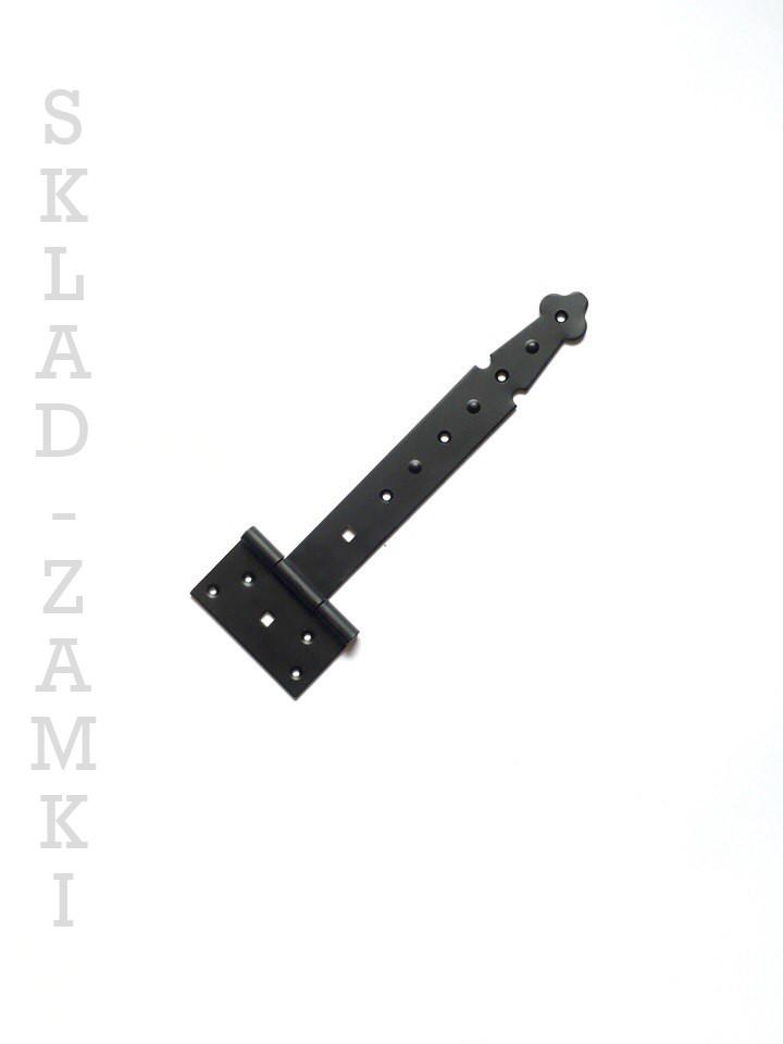 """Декоративная петля стрела """"Черная"""" 250 мм для дверей, ворот и калитки"""