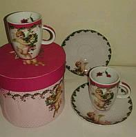 Подарочный набор 2 чашки + 2 блюдца