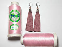Нитки для машинной вышивки Peri, полиэстер 120D/2, 3000 ярдов, цвет 3006 розовый