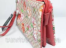 Женская косметичка- кошелёк три отдела, фото 3