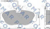 Колодки тормозные передние Citroen Evasion 94-02; Fiat Ulusse 94-02; Peugeot 806 94-02 Fomar