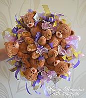 Букет з плюшевих ведмедиків на 14 лютого, фото 1
