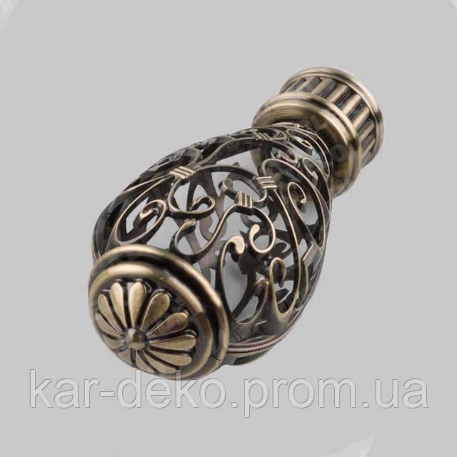 Фото наконечника декоративного на карниз Джанет kar-deko.com