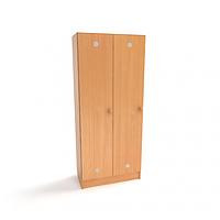 Шкаф 2-дверный для раздевалки в детском саду
