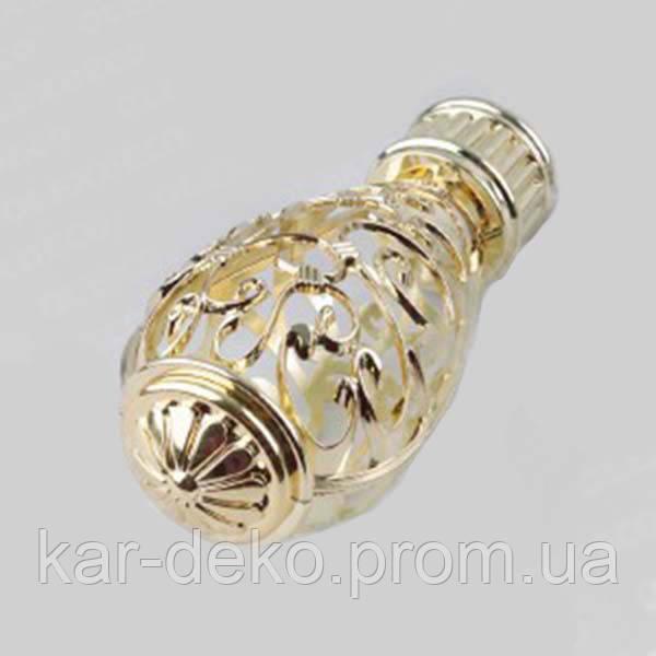 Фото наконечника на карниз Джанет золото kar-deko.com