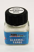 Краска по стеклу и керам. HobbyLine 20мл 45207 белая