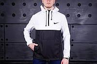 Анорак, ветровка, куртка Nike черный-белый