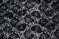 Гипюр стрейч черный, фото 1