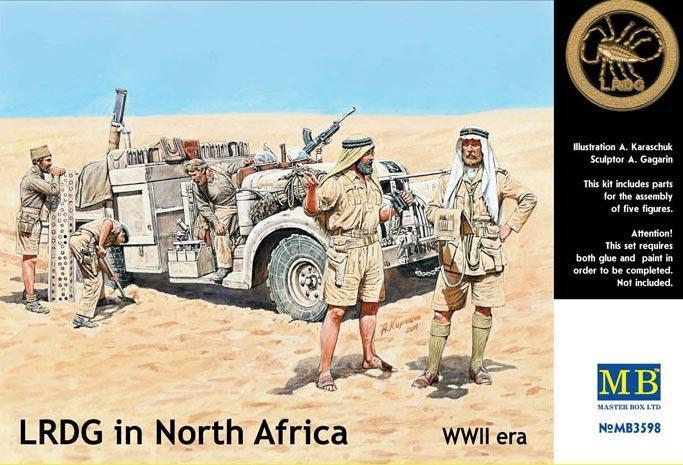 Фигурки LRDG в Северной Африке. 1/35 MASTER BOX 3598