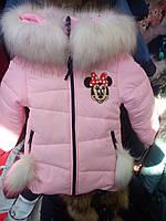 Зимняя куртка на девочку  гном