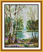 Березы у реки Набор для вышивки крестом