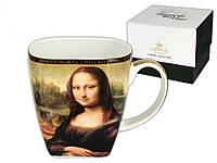 "Чашка фарфоровая Carmani Леонардо да Винчи ""Мона Лиза"" 500мл 032-0804(Польша)"