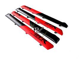 """Накладки дверные """"батоны"""" ВАЗ 2101, 2102, 2103, 2104, 2105, 2106, 2107 (красно-черные) «AutoElement»"""