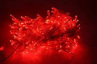 Электрическая гирлянда Нить 300LED красного 14м, проз.шн., без соед.*