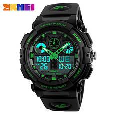 Спортивные водонепроницаемые часы Skmei 1270 Green, фото 2