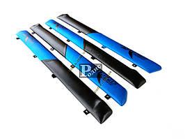 """Накладки дверные """"батоны"""" ВАЗ 2101, 2102, 2103, 2104, 2105, 2106, 2107 (сине-черные) «AutoElement»"""