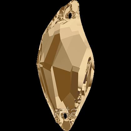 Камені Swarovski пришивні 3254 Crystal Golden Shadow