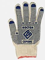 Перчатки трикотажные с ПВХ точкой Восток, 850гр