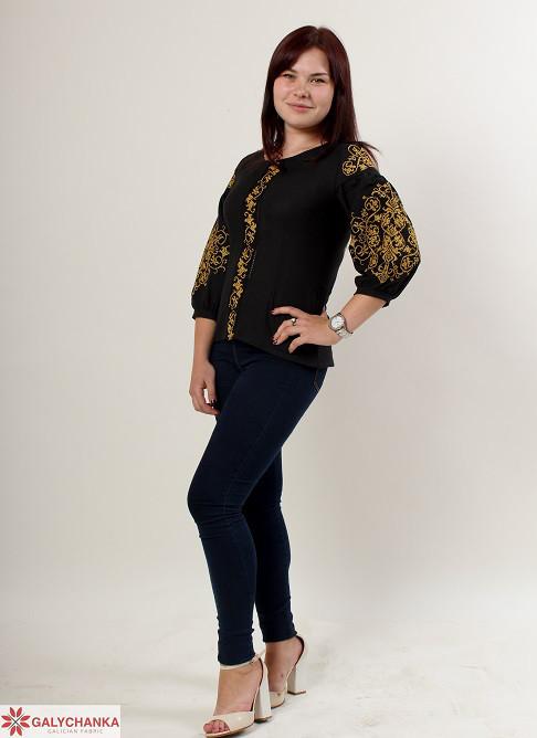 543965cc00a Восхитительная блуза вышиванка из льна с широкими рукавами с этическим  орнаментом - Оптово-розничный магазин