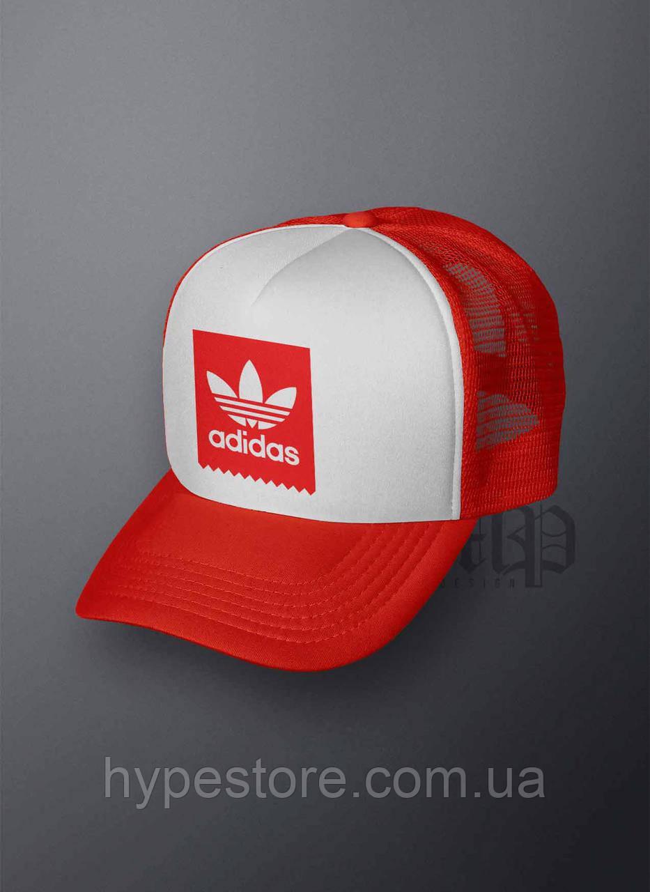 Кепка, бейсболка Adidas (красный), Реплика