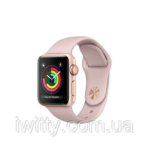 Watch Series 3 GPS 42mm Gold Aluminium Case with Pink Sand Sport Band Gold (MQL22), фото 2
