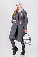 Красивое женское пальто с капюшоном