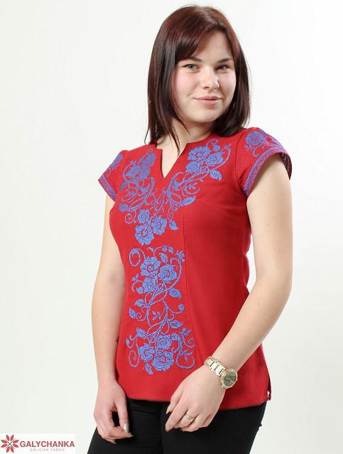 Стильная молодежная блуза вышитая крестиком