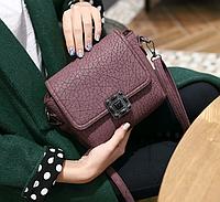 Женская сумочка через плечо Бордовая Винтаж