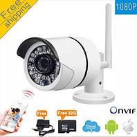 FullHD 1920*1080 WiFi IP камера для наружного и внутреннего видеонаблюдения с бесплатным SD карт 32ГБ