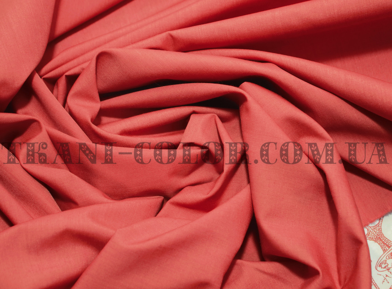 Рубашечная ткань коралловая
