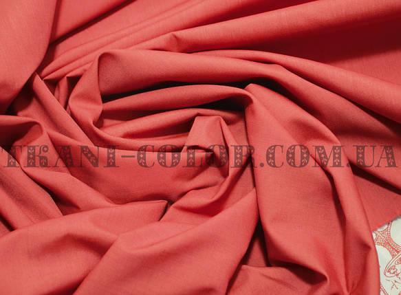 Рубашечная ткань коралловая, фото 2