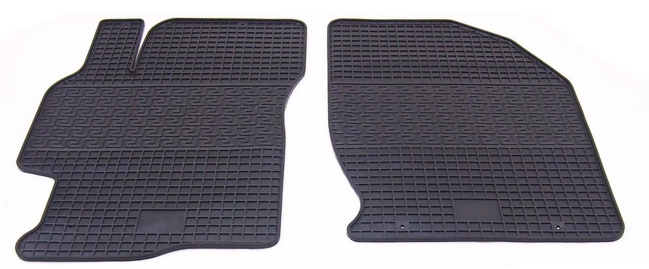 Коврики резиновые в салон для Mazda 6 2008-2013 (ПЕРЕД) (PolyteP_LUX)