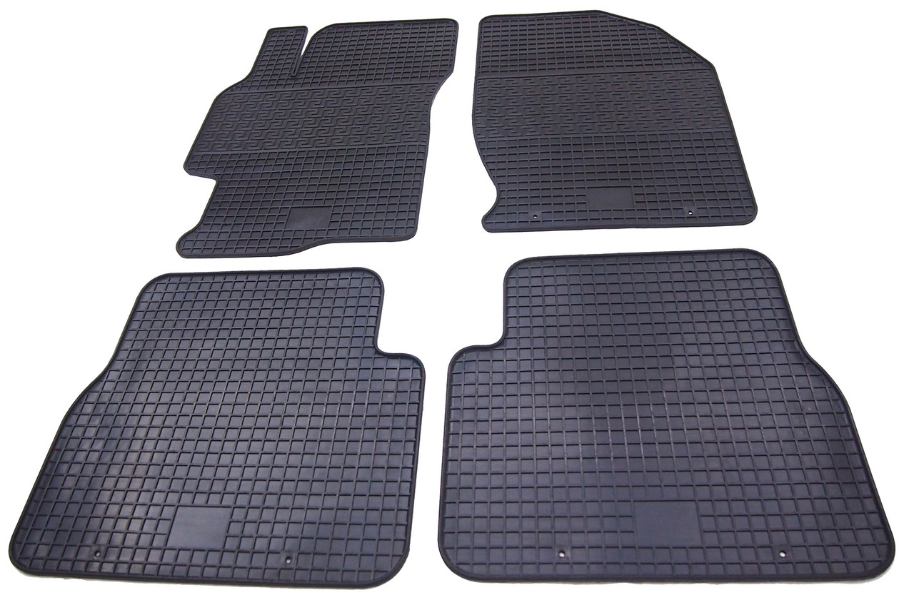 Коврики резиновые в салон для Mazda 6 2008-2013 (PolyteP_Clasic)