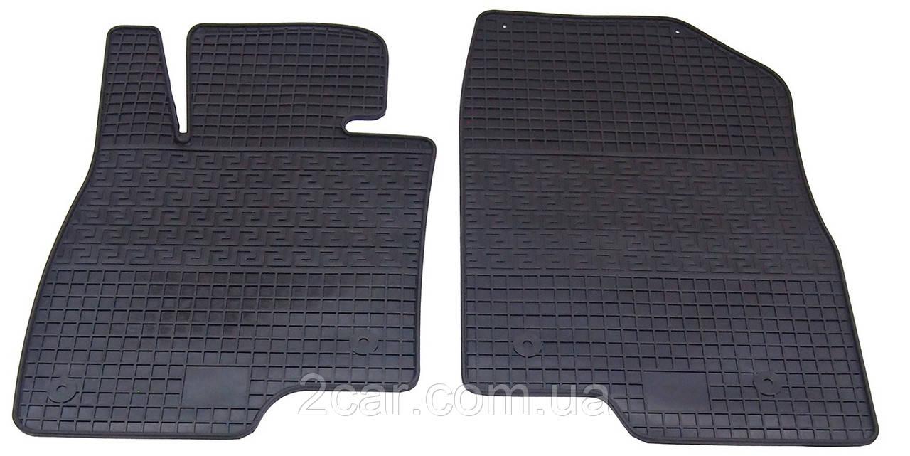 Коврики резиновые в салон для Mazda 6 2013- (ПЕРЕД) (PolyteP_LUX)