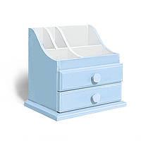 Органайзер для косметики и украшений «Sophia» Бело-голубой