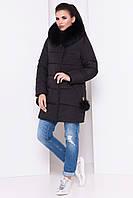 Модный женский пуховик, зимнее полупальто