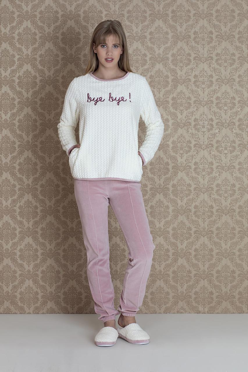 Жіночий велюровий домашній костюм для сну HAYS 17094