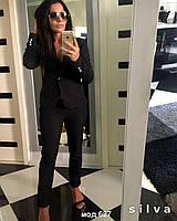 Женский стильный брючный костюм с лампасами. Ткань: костюмка. Размер: 42-44;44:46;46-48. Цвета в ассортименте.