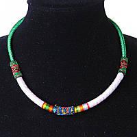 Украшение на шею Африка текстиль Зеленый Ассорти ассорти