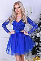 Женский стильный костюм юбка+фатин в разных цветах. Ткань: трикотаж, фатин. Размер: с,м,л.