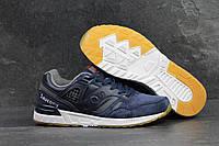 Мужские кроссовки Saucony синие замшевые (Реплика ААА+)