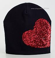 Симпатичная шапочка Шарм темно-синего цвета