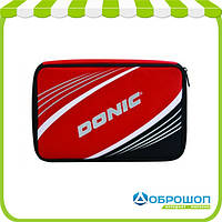 Чехлы Donic Salo Plus (Red) (for 1-2 bats, extra pocket, addition 3balls pocket (red/silver jacquard mtrl)