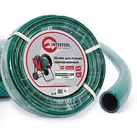 "Шланг для полива 3-х слойный 3/4"", 50м, армированный PVC INTERTOOL GE-4046, фото 1"