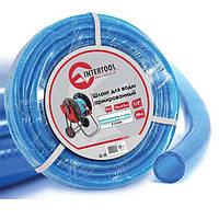 """Шланг для воды 3-х слойный 1/2"""", 100м, армированный PVC INTERTOOL GE-4057, фото 1"""