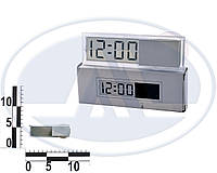 Часы LCD на зеркало задний вида с календарем. ОО1