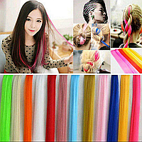 Пряди волос цветные для создания неповторимого образа