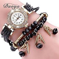 Женские часы браслет с черным ремешком, фото 1