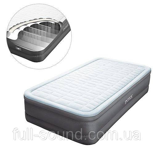 Надувная кровать со встроенным насосом 64484
